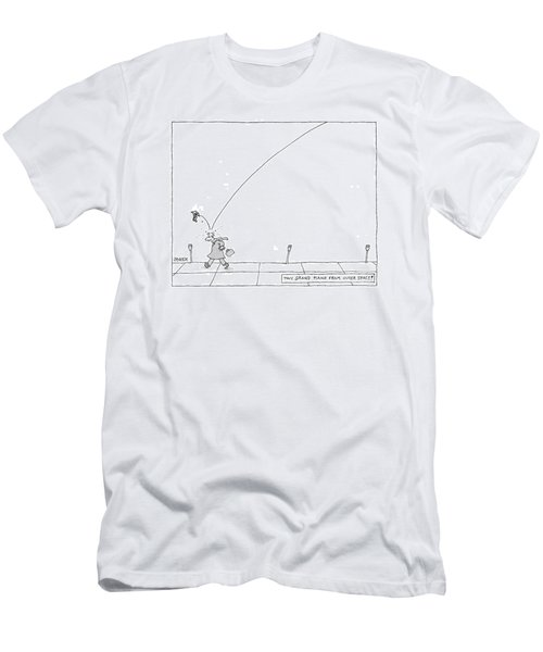 Tiny Grand Piano From Outer Space! Men's T-Shirt (Athletic Fit)