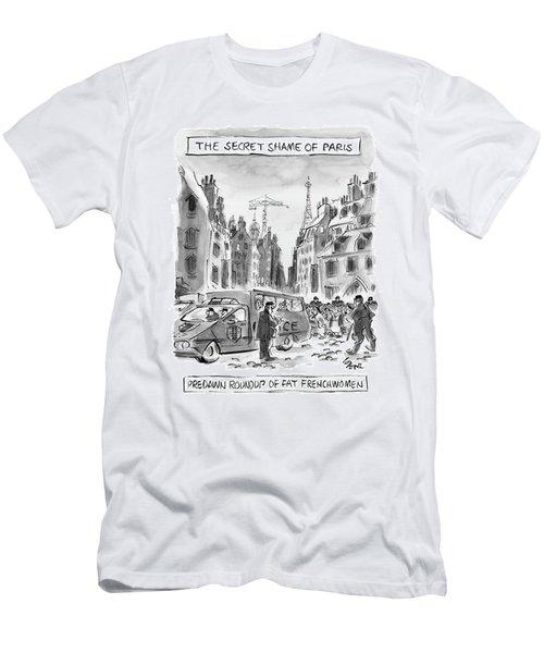The Secret Shame Of Paris Men's T-Shirt (Athletic Fit)
