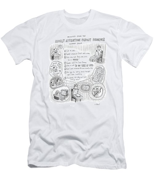Adult Attention Deficit Disorder Men's T-Shirt (Athletic Fit)