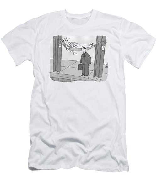 Caption Contest Men's T-Shirt (Athletic Fit)