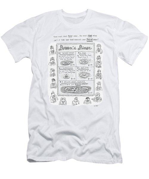 Doreen's Diner Men's T-Shirt (Athletic Fit)