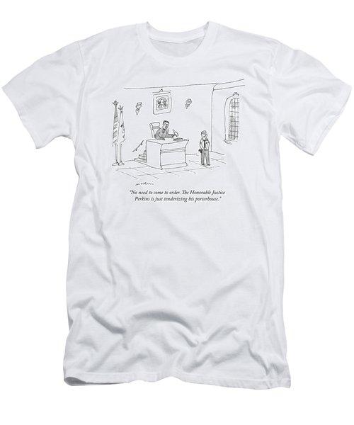 A Bailiff Addresses The Court Men's T-Shirt (Athletic Fit)