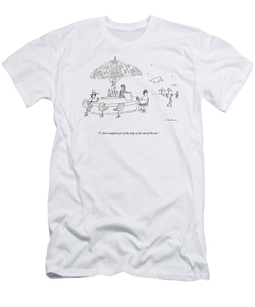 A Bartender At A Tropical Beach Bar Hands Men's T-Shirt (Athletic Fit)