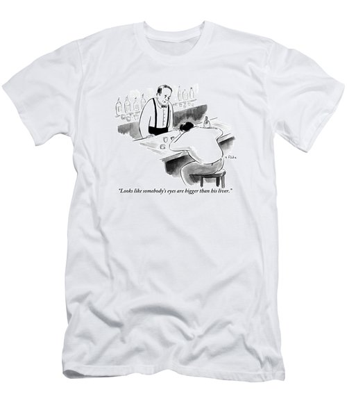 A Bartender Speaks To A Man Who Is Sitting Men's T-Shirt (Athletic Fit)