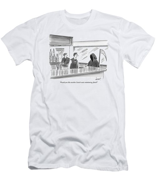 A Bartender Speaks To The Grim Reaper Men's T-Shirt (Athletic Fit)