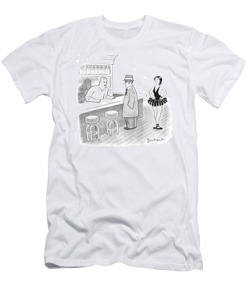 A Bartender Talks To A Member Of The Mafia Men's T-Shirt (Athletic Fit)