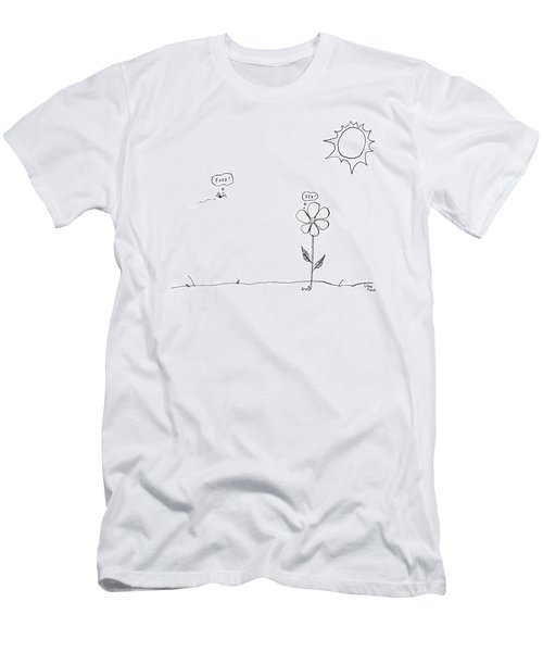 A Bee Thinking  Food! And A Flower Thinking  Sex! Men's T-Shirt (Athletic Fit)
