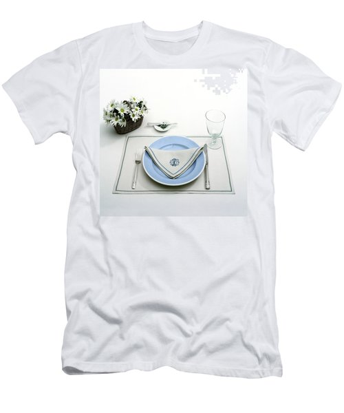 A Blue Table Setting Men's T-Shirt (Athletic Fit)