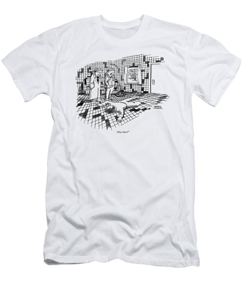 A Body Lies Face Down In A Room Where The Walls Men's T-Shirt (Athletic Fit)