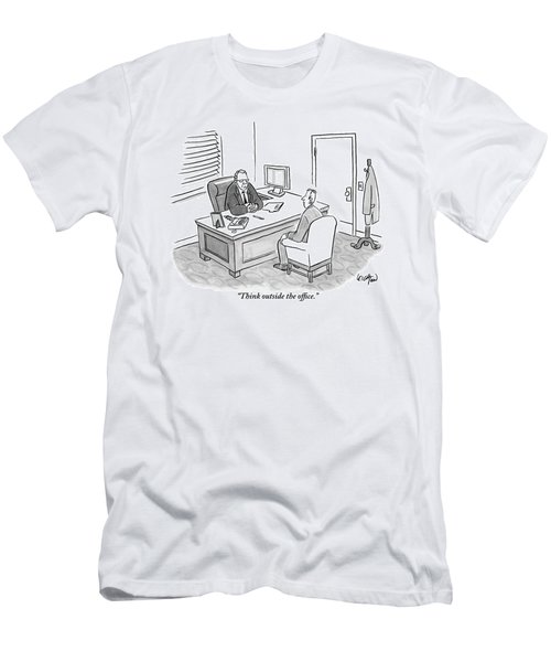 A Boss Asks His Employee Men's T-Shirt (Athletic Fit)
