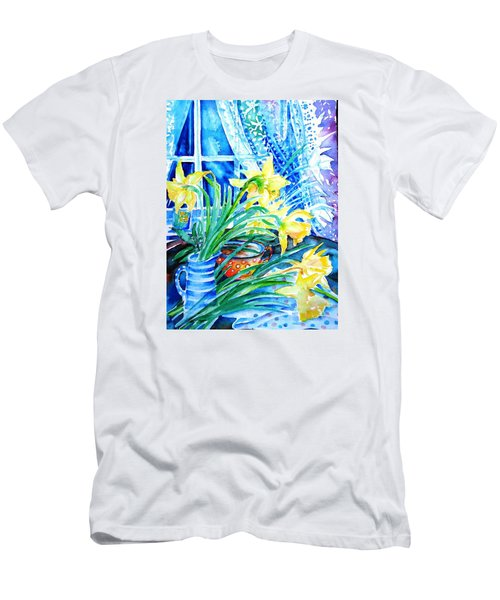 A Bouquet Of April Daffodils  Men's T-Shirt (Slim Fit) by Trudi Doyle