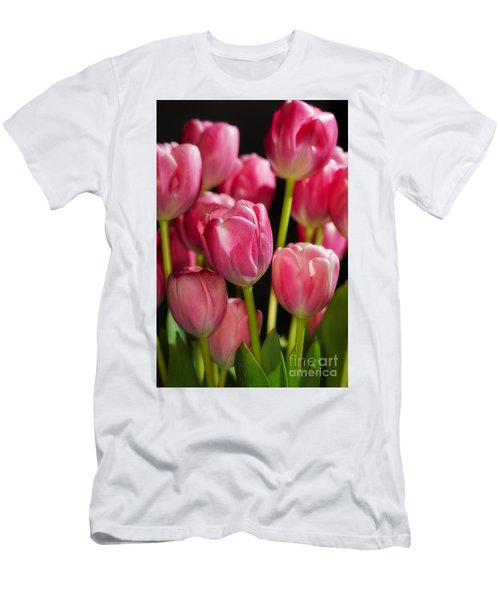 A Bouquet Of Pink Tulips Men's T-Shirt (Athletic Fit)