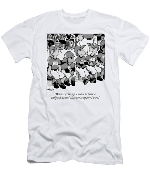 A Boy On A Little League Team Talks Men's T-Shirt (Athletic Fit)