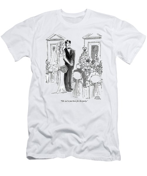 A Bride And Groom To The Guests At Their Wedding Men's T-Shirt (Athletic Fit)