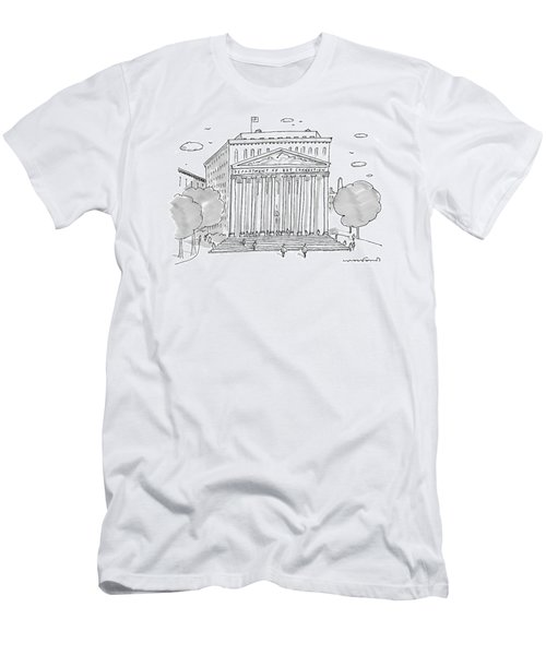 A Building In Washington Dc Is Shown Men's T-Shirt (Athletic Fit)