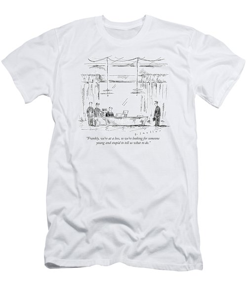 A Business Team Speaks To A Young Man Men's T-Shirt (Athletic Fit)