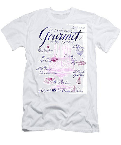 A Calligraphy Illustration Celebrating Sixty Men's T-Shirt (Athletic Fit)