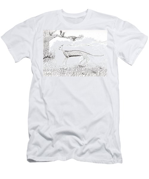 A Cat Moves Through Men's T-Shirt (Athletic Fit)