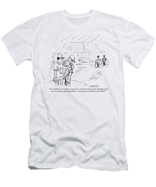 A Catcher Speaks To A Baseball Player Men's T-Shirt (Athletic Fit)