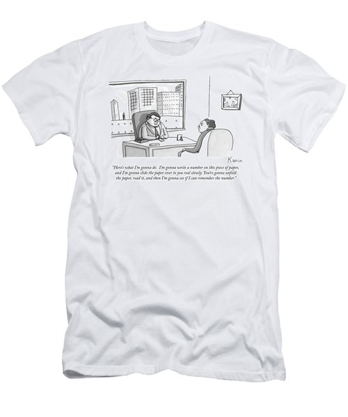A Ceo-type Sits Across The Desk From A Man Men's T-Shirt (Athletic Fit)