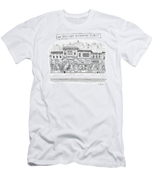 A City Block Is Full Of Buildings With Glass Men's T-Shirt (Athletic Fit)