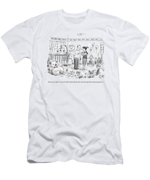 A Couple Is Talking In The Bedroom Men's T-Shirt (Athletic Fit)