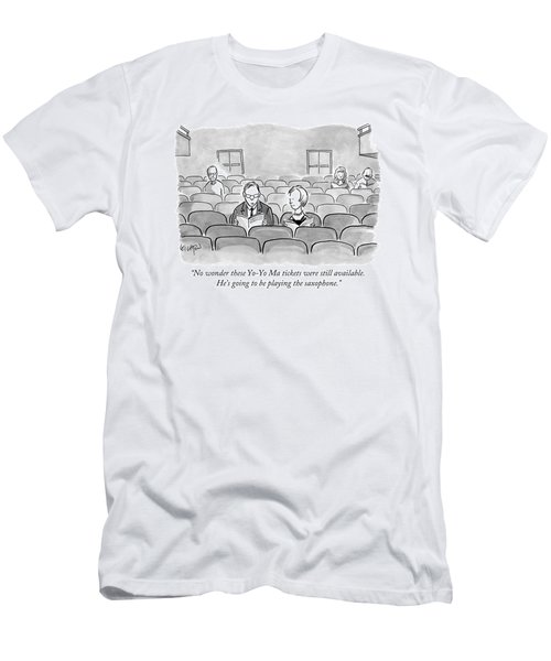 A Couple Sits Reading A Playbill Men's T-Shirt (Athletic Fit)