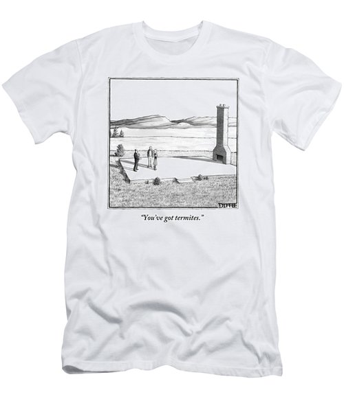 A Couple Stand In An Empty House Frame Men's T-Shirt (Athletic Fit)