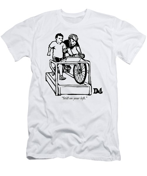 A Cyclist Says To A Jogger. They Are Both Men's T-Shirt (Athletic Fit)