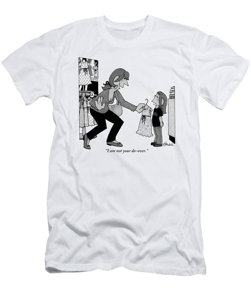 A Daughter Is Seen Speaking With Her Mother Who Men's T-Shirt (Athletic Fit)