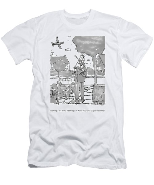 A Daughter Sits On Her Father's Shoulders Men's T-Shirt (Athletic Fit)