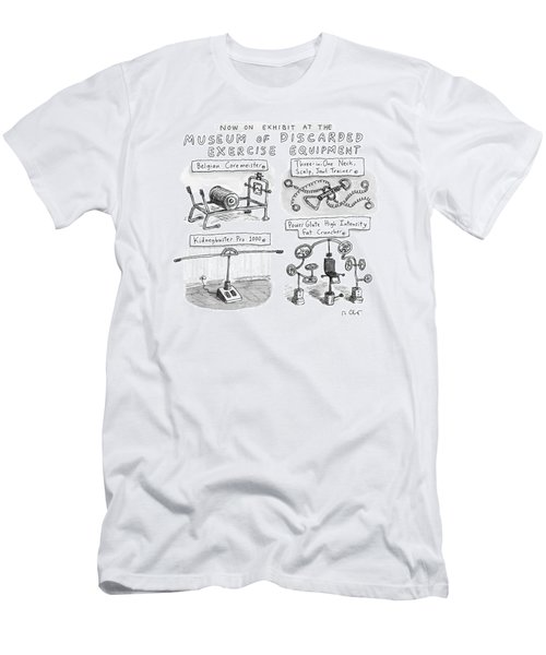 A Display Of Discarded Exercise Equipment Like Men's T-Shirt (Athletic Fit)