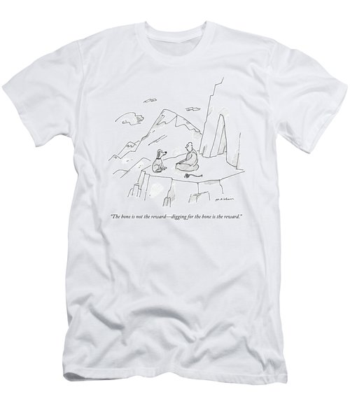A Dog Speaks To A Guru On Top Of A Mountain Men's T-Shirt (Athletic Fit)