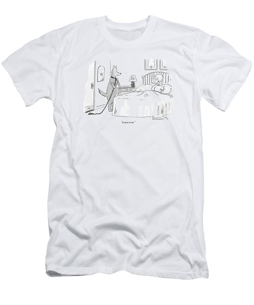 A Dog Unties His Leash Men's T-Shirt (Athletic Fit)