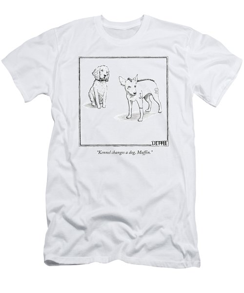 Kennel Changes A Dog Muffin Men's T-Shirt (Athletic Fit)