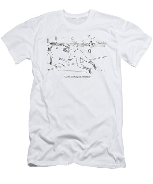 A Falling Baseball Player Fails To Catch A Ball Men's T-Shirt (Athletic Fit)