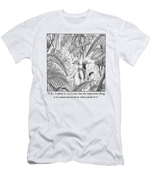 A Family Is Lost In The Depths Of A Jungle Men's T-Shirt (Athletic Fit)