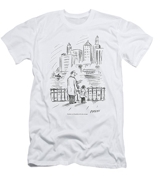 A Father And Son In Brooklyn Look Men's T-Shirt (Athletic Fit)