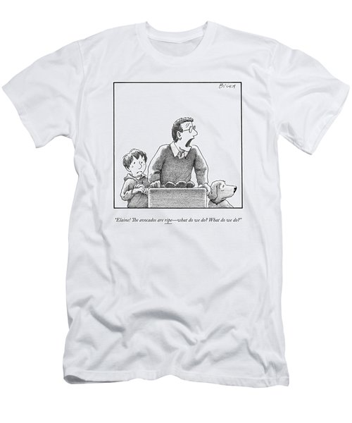 A Father, Son, And Dog All Worry At The Sight Men's T-Shirt (Athletic Fit)