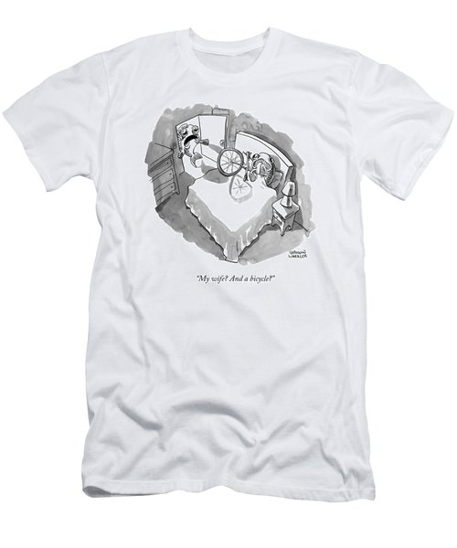 A Fish Walks In On Another Fish In Bed Men's T-Shirt (Athletic Fit)