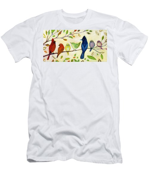 A Flock Of Many Colors Men's T-Shirt (Athletic Fit)