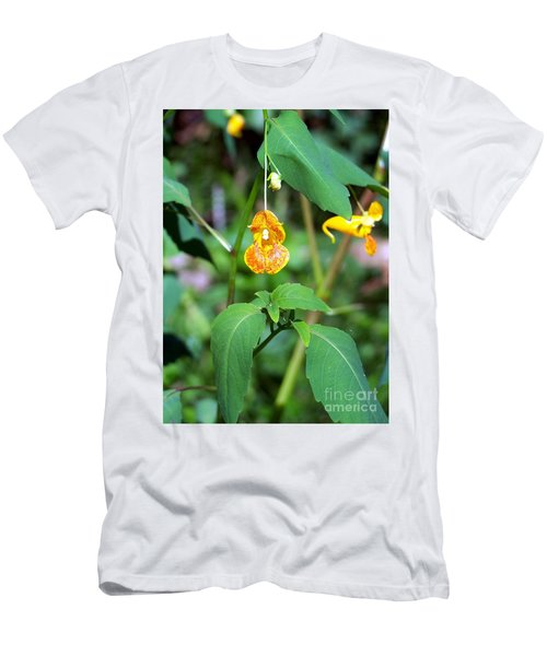 Men's T-Shirt (Slim Fit) featuring the photograph A Fragile Flower by Chalet Roome-Rigdon