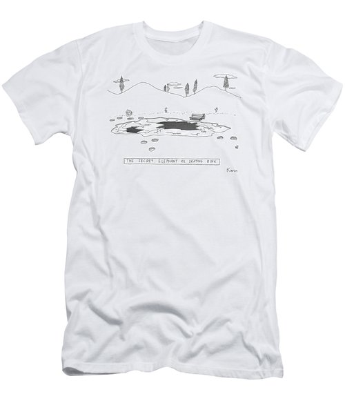 A Frozen Pond In A Snowy Winter.  The Surface Men's T-Shirt (Athletic Fit)