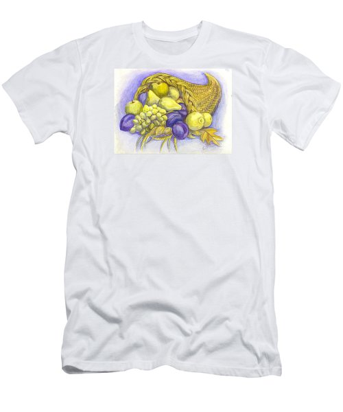 Men's T-Shirt (Slim Fit) featuring the painting A Fruitful Horn Of Plenty by Carol Wisniewski