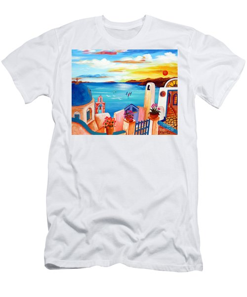 A Greek Seaview Men's T-Shirt (Athletic Fit)