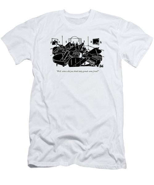 A Guy Talks To Another Guy In A Room Of Seven Men's T-Shirt (Athletic Fit)
