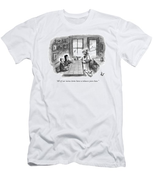 A Hillbilly Bartender Addresses Two Customers Men's T-Shirt (Athletic Fit)