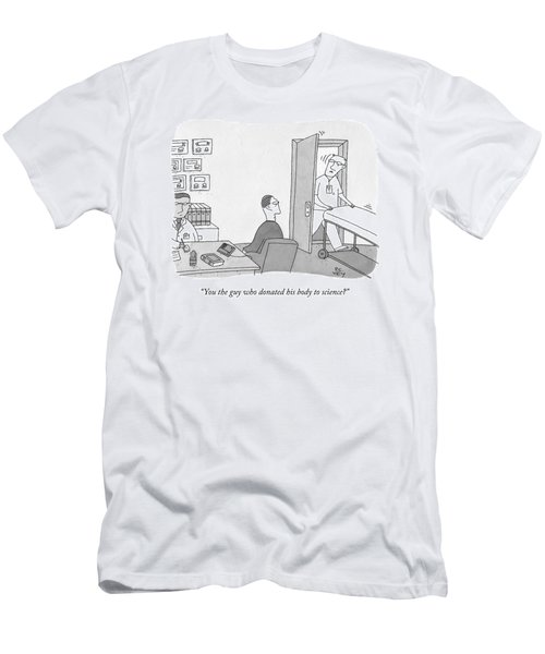 A Hospital Orderly Wheels A Morgue Bed Men's T-Shirt (Athletic Fit)