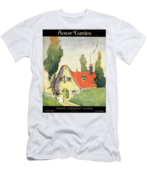A House And Garden Cover Of A Cottage Men's T-Shirt (Athletic Fit)