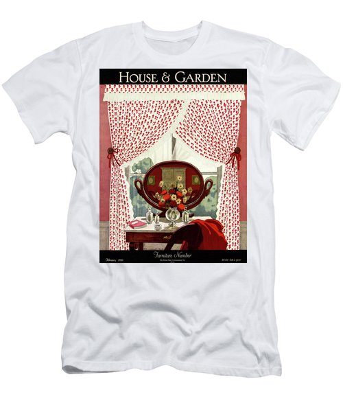 A House And Garden Cover Of A Mirror Men's T-Shirt (Athletic Fit)